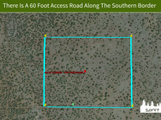 There Is A 60 Foot Access Road Along The