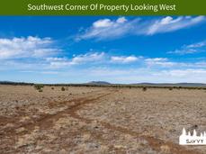 Southwest Corner Of Property Looking Wes
