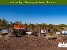 Various Signs Entering Westwood Ranches.