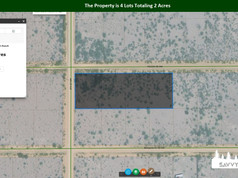 The Property is 4 Lots Totaling 2 Acres.