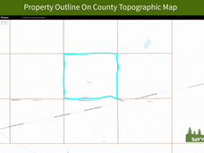 Property Outline On County Topographic M