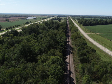 Railroad Runs Down West Side of Property