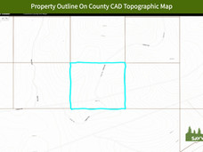 Property Outline On County CAD Topograph