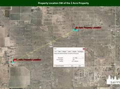 Property Location SW of the 2 Acre Prope