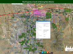The Property is South of Deming New Mexi