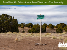 Turn West On Olivas Alone Road To Access