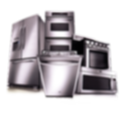 refrigerator, oven, stove, dishwaher and microwave