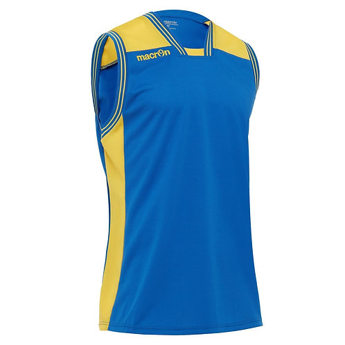 "MACRON MAILLOT BASKET ""CHROMIUM"" ROYAL/JAUNE"
