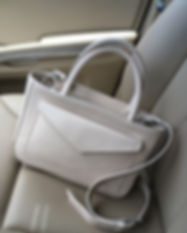 Ivory beige Nappa Little Athena by Marni