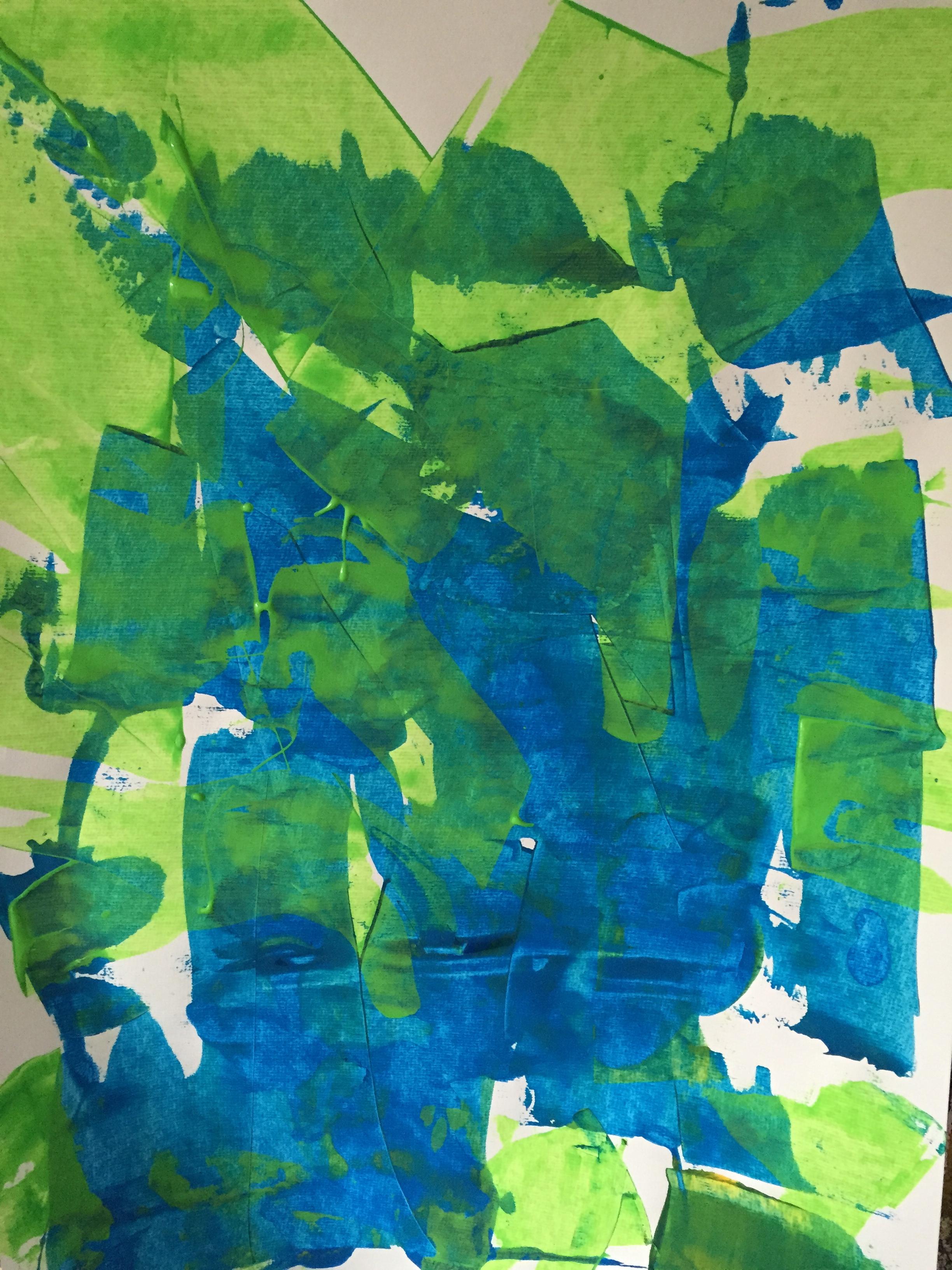 Fine Arts Acryl auf Papier Britta Weimer-Kuschnigg