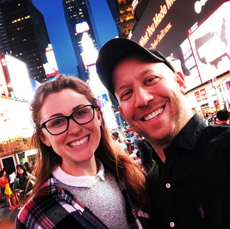 Ali and Darren in Times Square