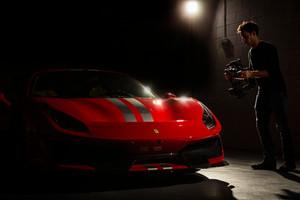 Movi Shot of Ferrari