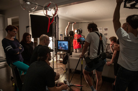 Behind the scenes for UJA's film