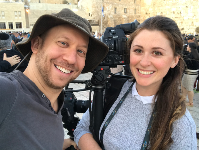 Darren and Ali in the Holy Land