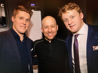 Darren with Mike Gardiner and Morgan Rielly