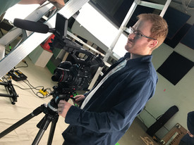 Nicolas on set