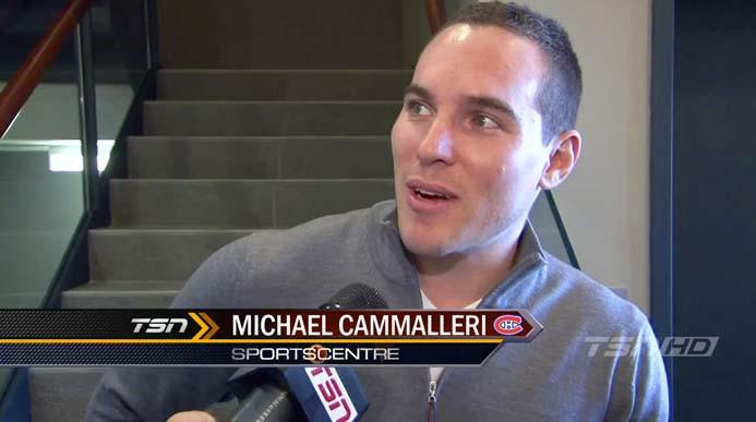 Michael Cammalleri, of the Montreal Canadiens