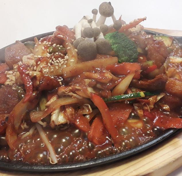 Korean Cuisine (Spicy Pan Fried Pork)