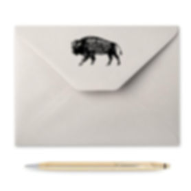 Bison Return Address Stamp
