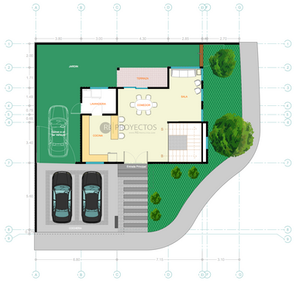 Blueprint of designed house by Rodolfo Delgado