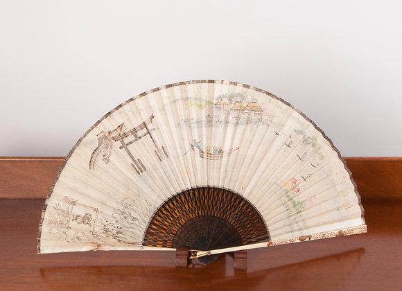 A Late Victorian Lady's Folding Hand Fan