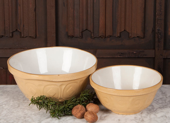 Pair of Early 20th Century Pottery Mixing Bowls
