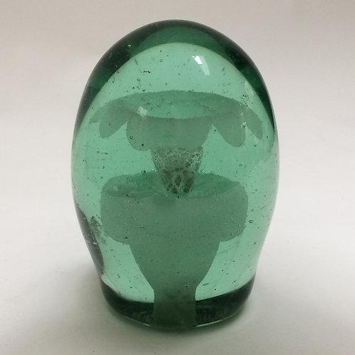 'Flower in a pot'- Green Glass Dump