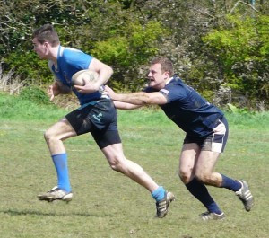 Action from the Minety Sevens