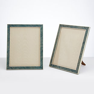 A Pair of Large 20th century Art Deco, Shagreen photo frames