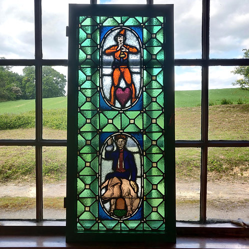 Early C20th Continental Stained Glass Window