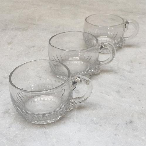 Set Of Georgian Glass Custard Cups