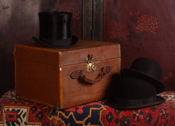 Early 20th Century Canvas Covered Hat Box