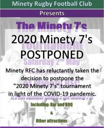 Minety 7's Tournament Postponed