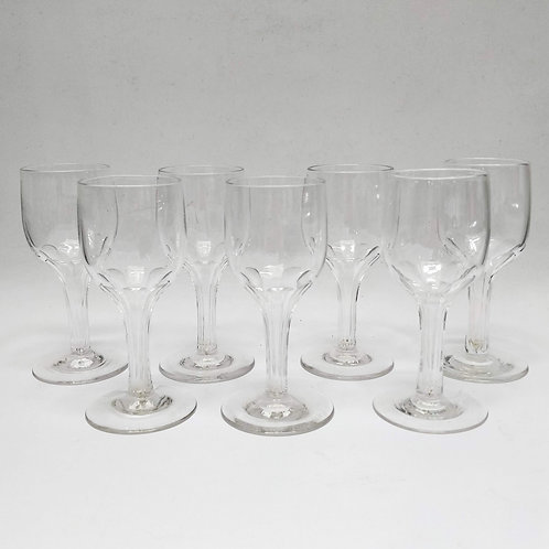 7 Hollow Stem Champagne/Wine Glasses