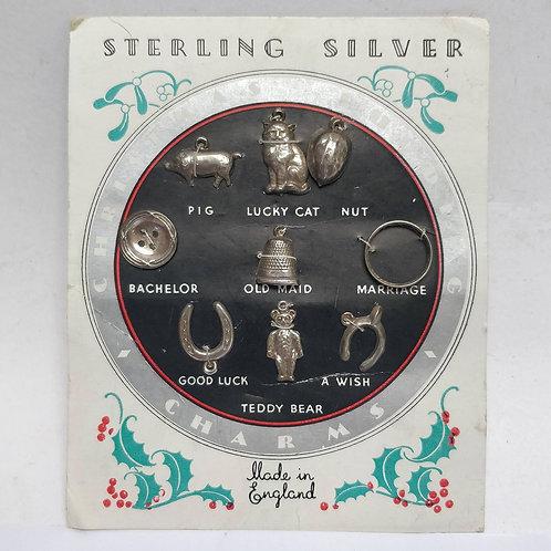 Silver Christmas Pudding Charms