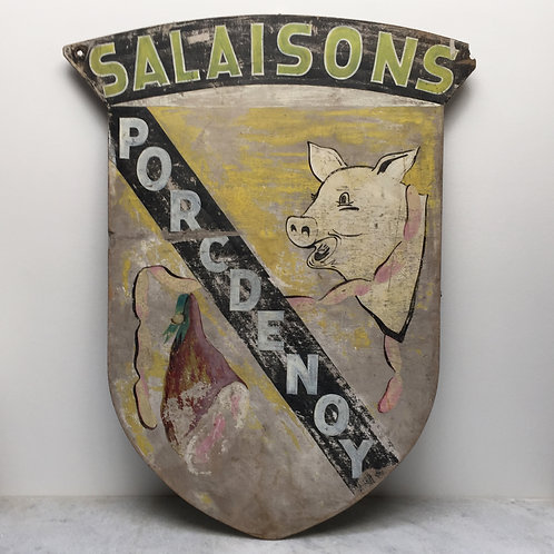 Large French Shield- Advertising Charcuterie
