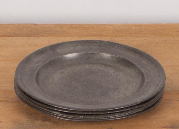 Set of 5 Pewter Plates