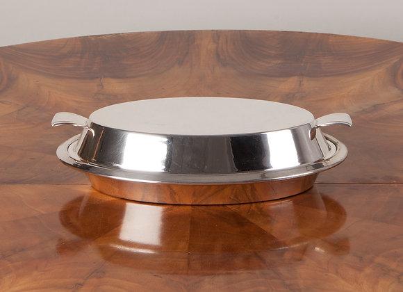 Art Deco Silver Plated Entrée Dish