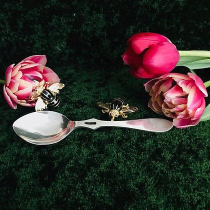 A 20th Century English Silver Honey Spoon.