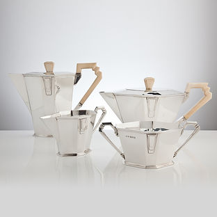A Pure Art Deco Tea & Coffee Service by Makers W. Fletcher, Sheffield 1933