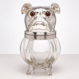 Large Novelty Ice Bucket in the Form of a Dog, French, circa 1920-1925