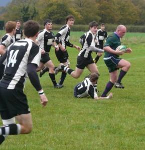 Matt Hooper steps out of a tackle
