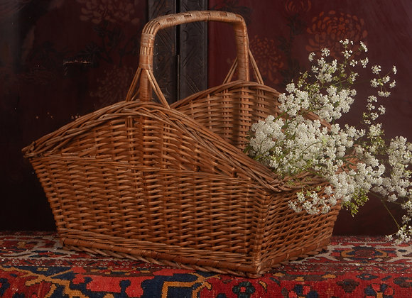Large Early 20th Century Wicker Shopping Basket