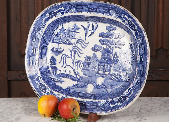 A Late Victorian Blue and White Serving Plate