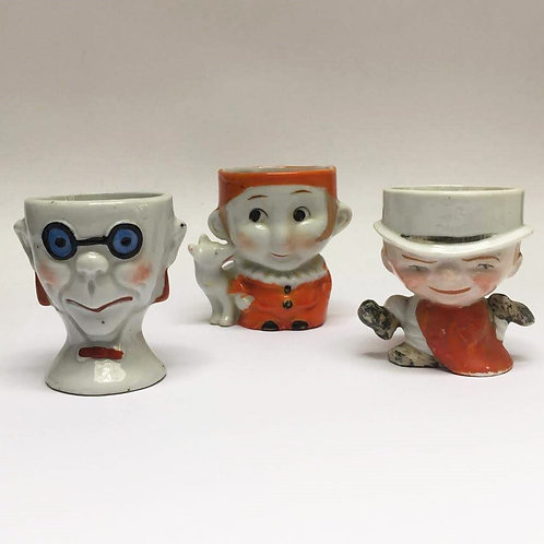 1920's Face Egg Cups