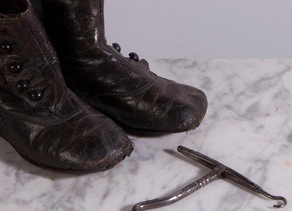 Folding Metal Boot Hook & Button Hook