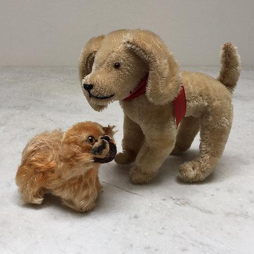 'Steiff' Pekingese Dog And Terrier