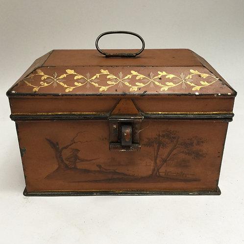 Late 18th Century Tole Tea Caddy