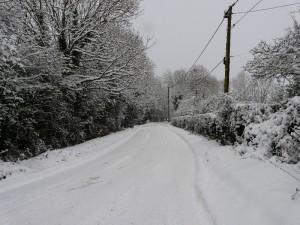 Snow in Minety