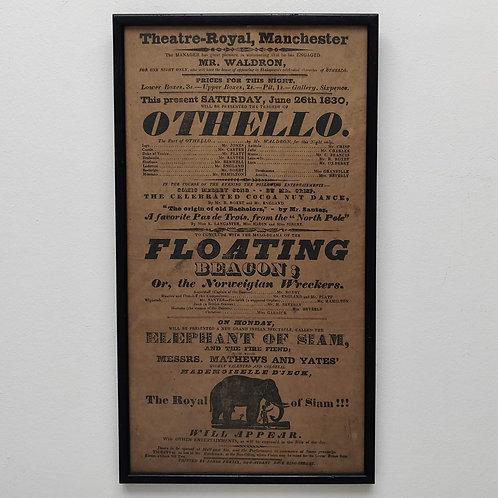 OTHELLO- Theatre Royal Manchester 1830